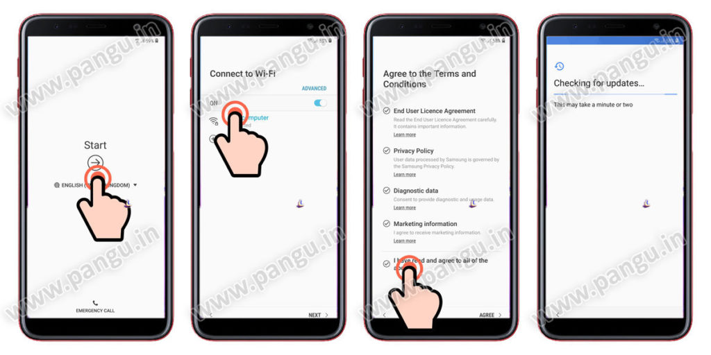 Samsung Galaxy A6 A6 Plus (2018) V8.0 Frp Lock Remove google account done connect samsung galaxy to wifi