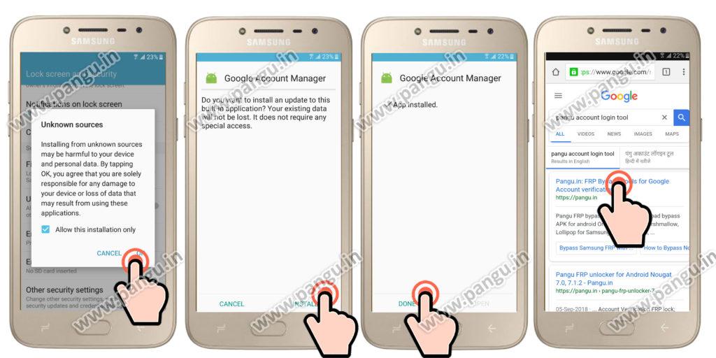 Unlocked FRP Samsung Galaxy J2 Pro (SM-J210f, J250f) - Pangu in