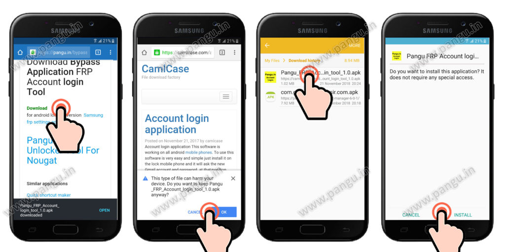 samsung galaxy j5 prime install frp remove application