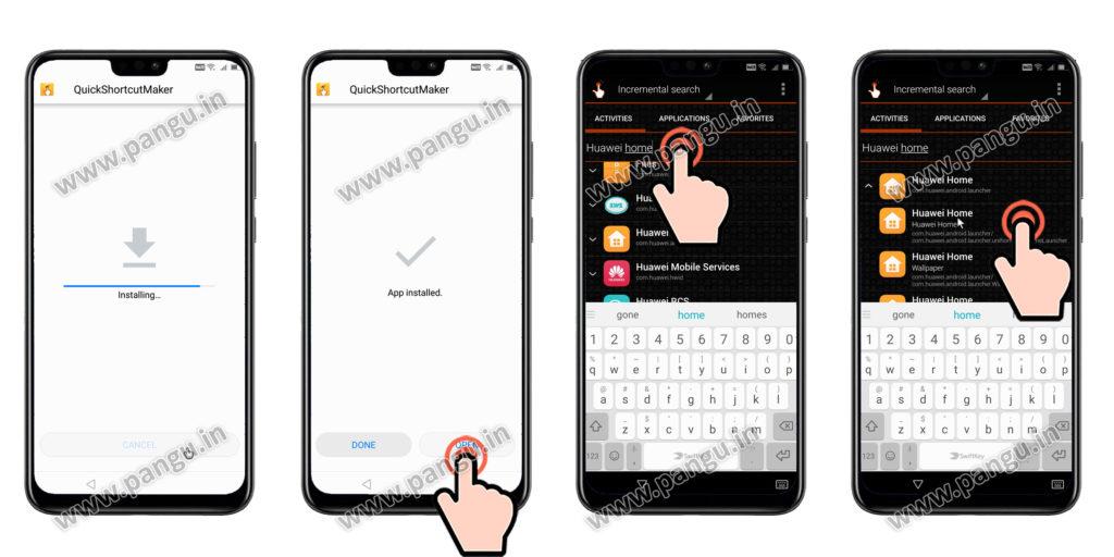 Install quick shortcut maker Huawei Honor Y9JKM-LX2