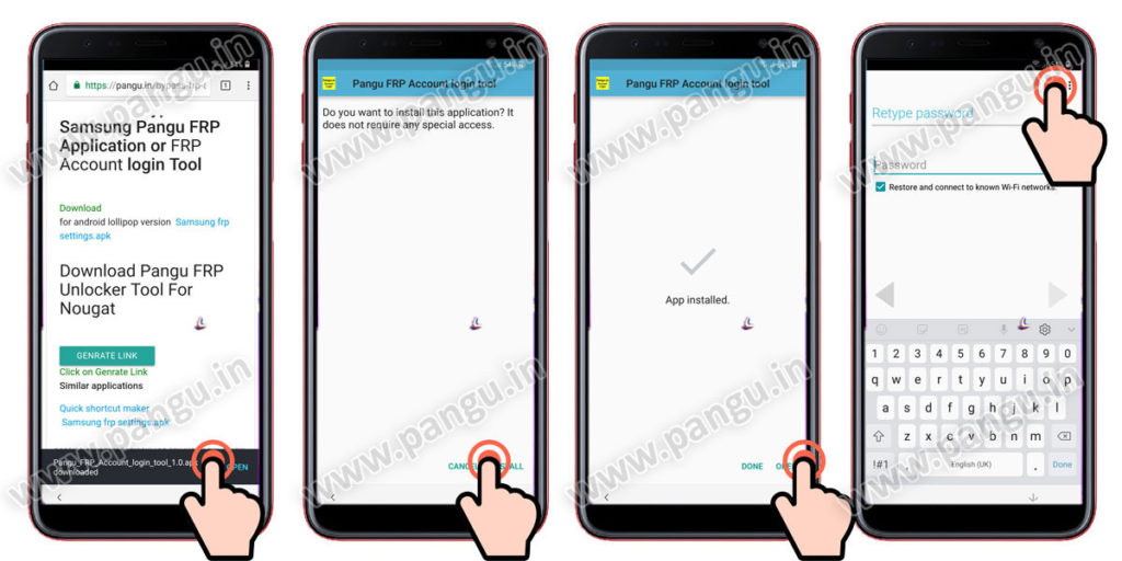 Samsung Galaxy A6 A6 Plus (2018) V8.0 Frp Lock Remove google account done install frp unlock apk or frp account login apk