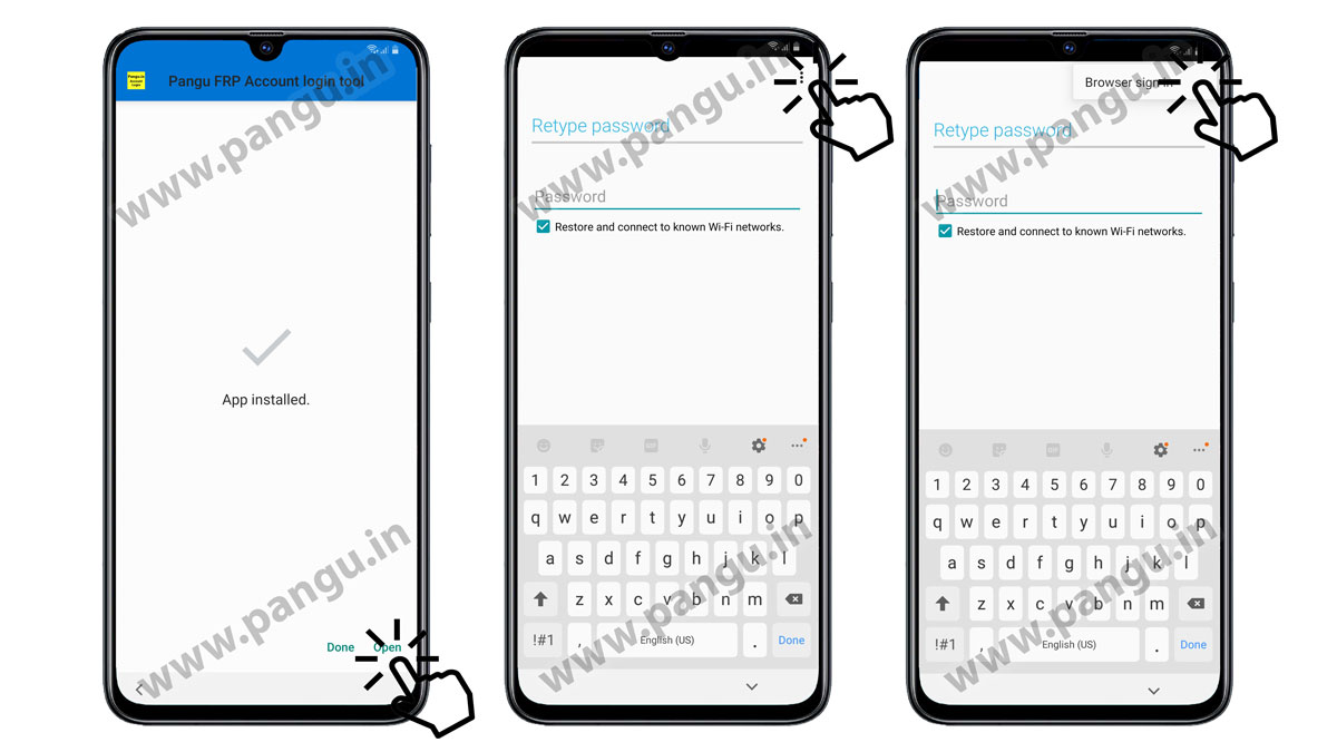 Enter Google account in Samsung G965D remove frp lock