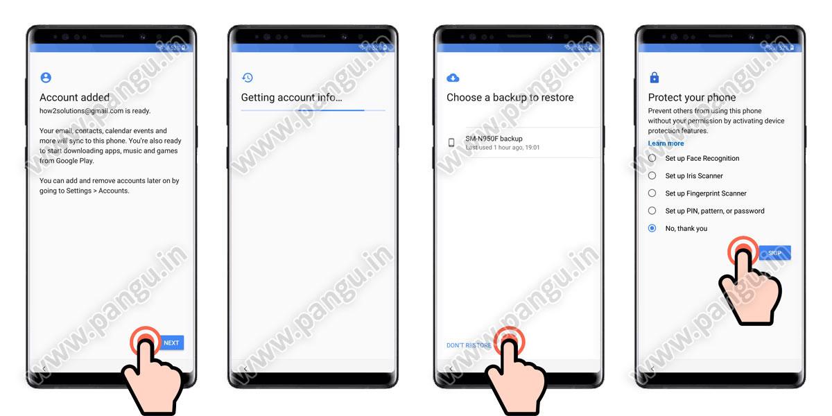 Galaxy Note 9 Remove FRP Google Account N960F N960U N960N - Pangu in