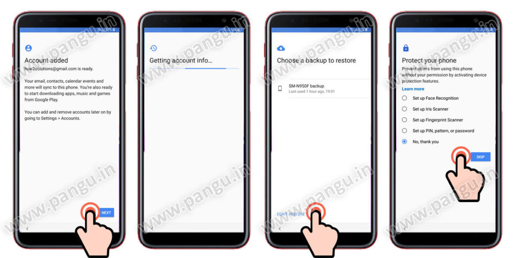 Samsung Galaxy A6 A6 Plus (2018) V8.0 Frp Lock Remove google account done complete initial setup after remove google account
