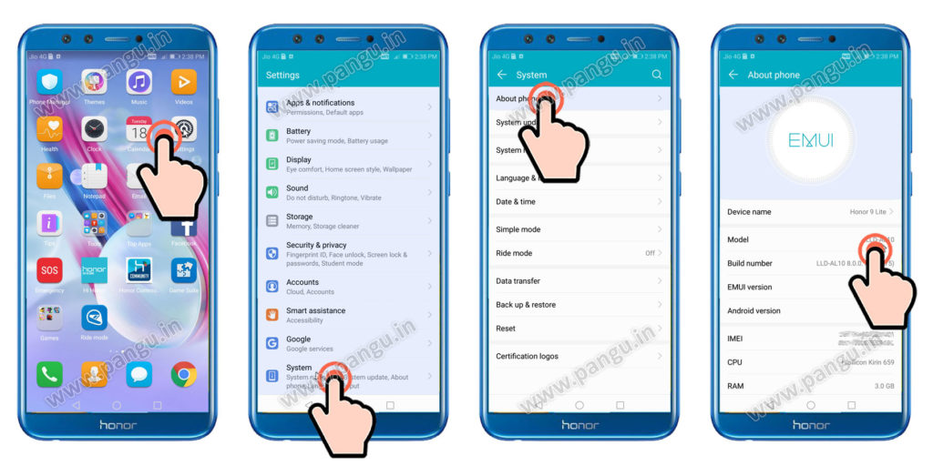 huawei Honor 9 lite LLD-AL10 Unlocked FRP account successfully