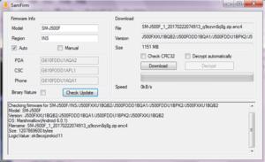SamFirm v0.3.6 Firmware Downloader