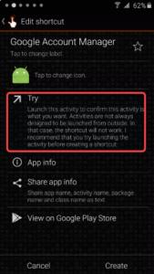 quick shortcut maker pangu frp unlock