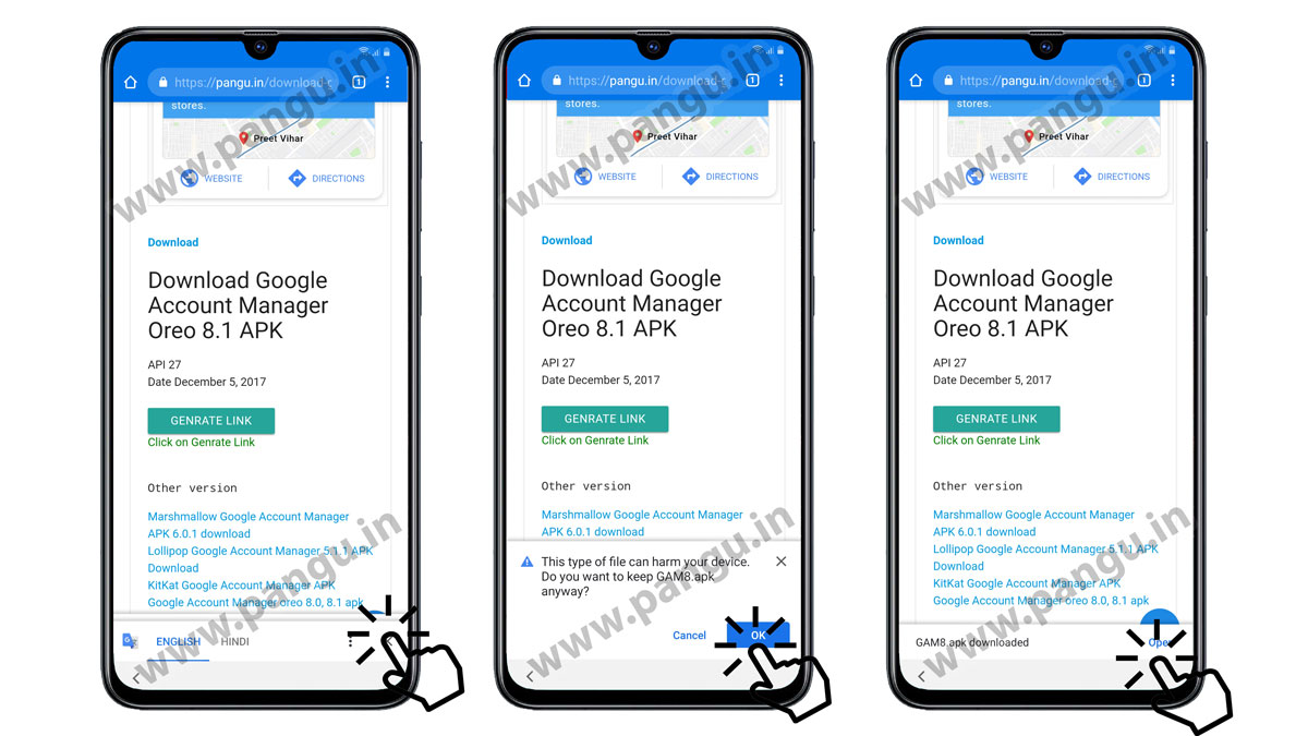 On Samsung G955X Download Google account manager 8.0 frp remove